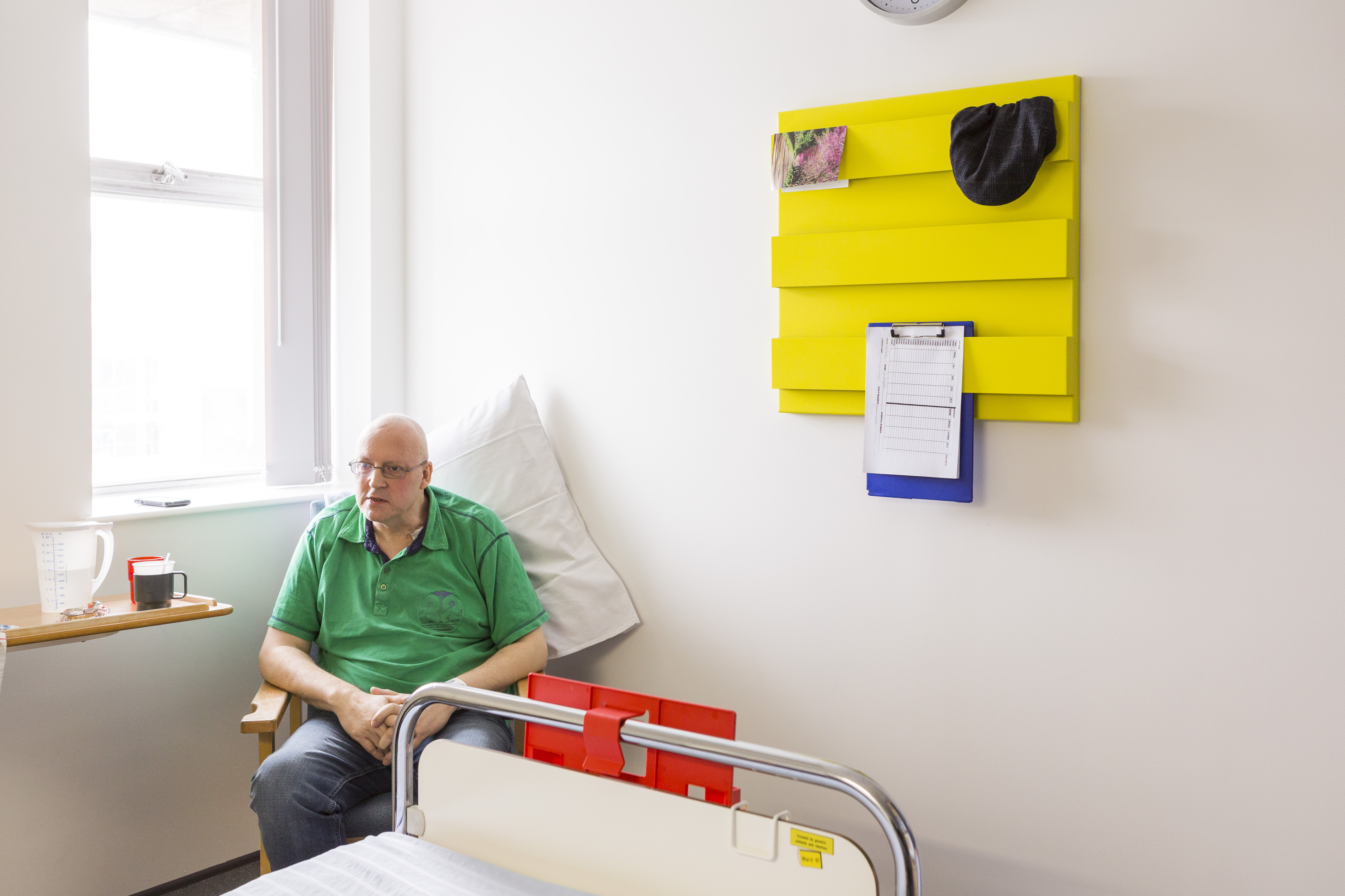 Art in hospital. Patients are being invited to stamp their own identity on their space in hospital using a series of sculptures inspired by books and reading. Photo Max McClure