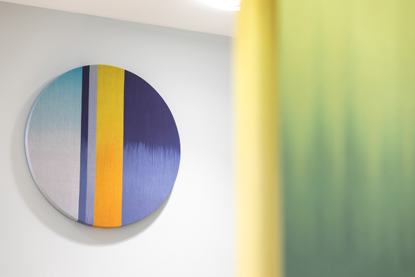 Woven artwork by Ptolemy Mann at Bristol Royal Infirmary