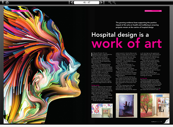 Clipping from Healthcare Design & Management magazine